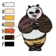 Kung Fu Panda Embroidery Design 06